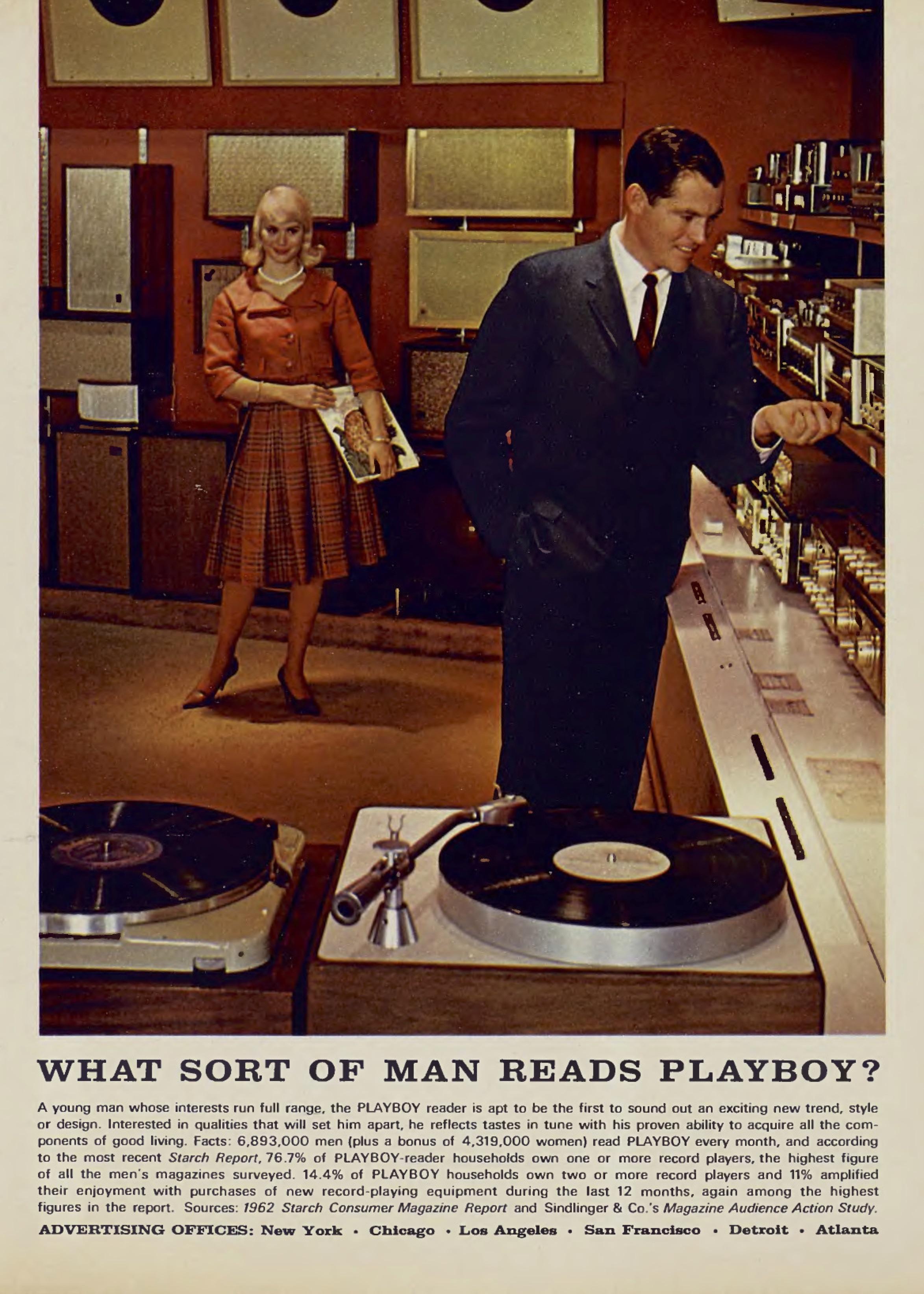 Playboy hi-fi ad 1962